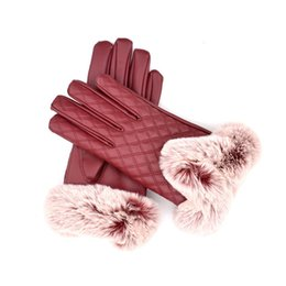 $enCountryForm.capitalKeyWord Australia - Women leather gloves touch screen gloves Women fall and winter thickening and keeping warm cycling PU gloves in fashion Trendy Female Glove