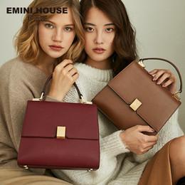 $enCountryForm.capitalKeyWord Australia - Emini House Retro Style Luxury Handbags Women Bags Designer Simple Padlock Shoulder Crossbody Bags For Women Split Leather Y19061903