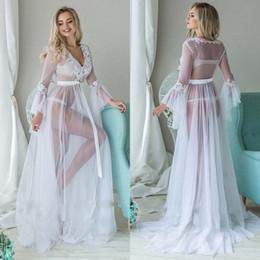 Damen Spitze Lang Lace Sheer Durchsicht Robe Dessous Kleid Tanga Unterwäsche