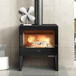 4 palas Auto estufa de calor del ventilador accionado de madera del registro del quemador / Fireside calentador, carbón fuego del quemador, Añadir más de Aire Caliente en venta