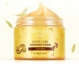 Baby Foot Exfoliating Peel Wholesale Australia - DHL FREE BIOAQUA 24K GOLD Shea Buttermassage Cream Peeling Renewal Mask Baby Foot Skin Smooth Care Cream Exfoliating Foot Mask