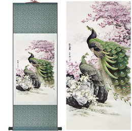 $enCountryForm.capitalKeyWord Canada - Birds And Flowers Painting Home Office Decoration Chinese Scroll Peacock Paintingprinted Painting