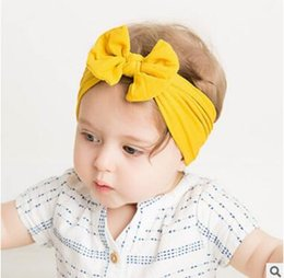 Discount diy baby elastic headbands bows - Newborn Baby Headbands 2019 Turban Popular Hair Bow Headband For Girls Headwrap Textured Fabric Elastic Kids DIY Hair Ac