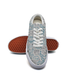 $enCountryForm.capitalKeyWord Australia - Men's canvas sneakers shoes Cat and Mice Meow Fish Star Paw tennis sneakers Lightweight vintage Lace-up Balls Shoe Breathabl neon sneakers