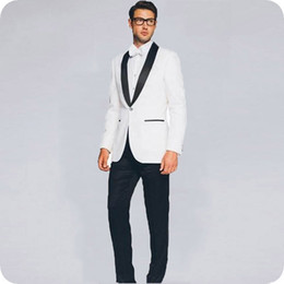 Suit For Mariage Australia - Men Suits for Wedding Man Blazer White Groom Tuxedos Groomsmen Wear Prom Party 2Piece Costume Homme Mariage Terno Masculino trajes de hombre