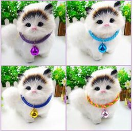 Metal Collars Wholesale NZ - Metal Chain PU Leather Dog Collar Pet Big Bell Necklace Fashion Adjustable Dog Cat Collars Lovely Puppy Teddy Kitten Necklaces