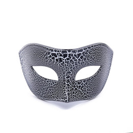 $enCountryForm.capitalKeyWord UK - 2019 new crack flat head half face mask Halloween costume ball high-end mask horror party mask