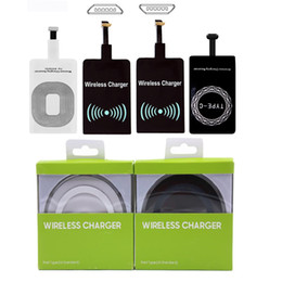 Wholesale qi wireless receiver iphone resale online - Wireless Charger Universal Qi Wireless Charger Adapter Receiver module For iPhone X Plus Samsung S7 S8 edge Note