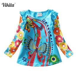 $enCountryForm.capitalKeyWord Australia - T-shirts For Girls Long Sleeve Roupa Infantil Princess Children Cartoon Clothing Kid Children's T-shirts Tops L3916 Mix