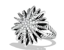 China new hot luxury women's female's ladies punk dj David snow full crystal diamonds ring finger rings free shipping suppliers