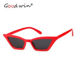 81f45b41a36 Good Win New Sunglasses Women Cat Eye Hot Sale 2019 Red Small Sunglasses  For Women Vintage Luxury Female Eyeglasses Retro shade