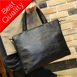 Leather fiLe bags online shopping - Men New PU Leather Briefcase Black Fashion Business Handbag Cross Body Bags Office Laptop Computer Bag File Handbags
