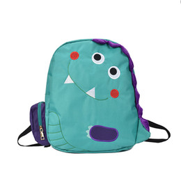 Carton paCk online shopping - Cute Carton Backpack Women Green Canvas Load Reduction Backpack Large Capacity Female School Pack Dinosaur Shoulder Bag Girl
