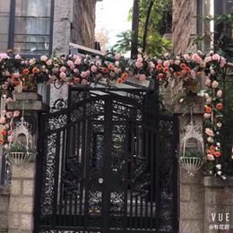 $enCountryForm.capitalKeyWord Australia - 6pcs1.8M Artificial Flower Australia Vine Silk Rose Pink White Red Flower for Wedding Decoration Artificial Vines Hanging Garland Home Decor