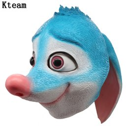 Latex rabbit mask online shopping - New Funny Lovely Halloween Party Cosplay Animal Latex Rabbit Mask Bunny Mask Disguises of Rabbits Face Head Mask