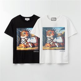 fashion for short girls NZ - 2020 Fashion Brand Designer T-Shirts For Girls Mens Tshirt Short Sleeves Shirts Womens Summer Tiger Print Tees Top Quality A1UI9 2031603V
