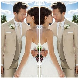 Wholesale 2019 Tailor Made Mens Formal Wedding Suits Groom Tuxedos Custom Piece Men Business Formal Prom Party Gowns Cheap Jacket Vest Pants