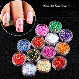 $enCountryForm.capitalKeyWord Australia - 24 Color Nail Art Decor Jewelry Stars Sequins Thick Sequins Candy Color Nail Glitter Patch Holographic Ornaments