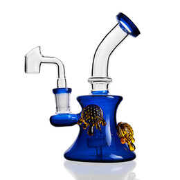 glass bubbler tobacco pipes accessories UK - Hot Sale Tortoise Heady Glass Bong Colored Water Pipe Oil Rig Bubbler Tobacco Accessories Quartz Banger Nail Smoking Hookah