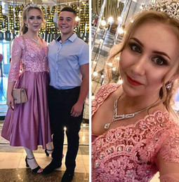 Cheap long strap prom dresses online shopping - 2019 new Special cheap Holy prom dresses sexy v neck custom made crystal beaded arabic dress sheer lace half long sleeves evening gowns