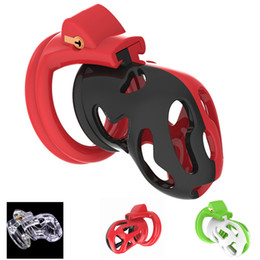 $enCountryForm.capitalKeyWord NZ - 2019 New 3D design Dazzling Color Super Breathable Chastity Cage with 4 Size Penis Ring Adult Bondage Male Chastity Devices