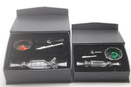 Honey gift box online shopping - In stock black mini glass bubbler Kit mm mm mm Honey Straw Tips with Titanium nail Dabber Dish Glass water bong