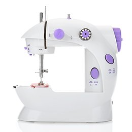 Wholesale foot sewing machine resale online - IY Apparel Fabric Machines Mini Electric Handheld Sewing Machine Dual Speed Adjustment with Light Foot AC100 V Double Threads Pendal
