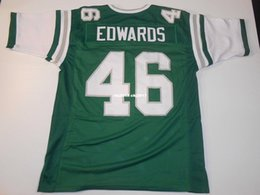 Football Ends NZ - Cheap Retro custom Sewn Stitched #46 Herm Edwards Green MITCHELL & NESS Jersey High-end Men's Football Jerseys College NCAA