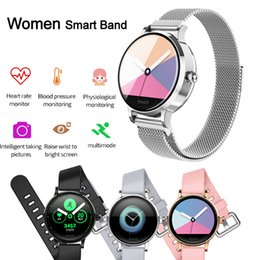 smart health pulse watch Australia - S9 Women Smart Bracelet Watches Heart Rate Blood Pressure Monitor Wristwatch Fitness Health Tracker for Female Sports Wristband