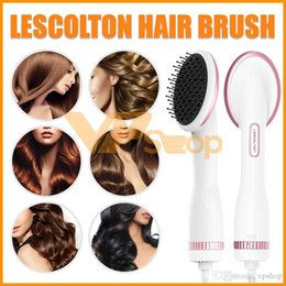 $enCountryForm.capitalKeyWord Australia - Lescolton Hair Brush Comb One Step Hair Dryer & Styler Straightener Air Paddle Negative Ion Warm Wind Combs for All Style Hair