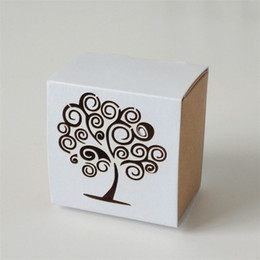 paper lasers Australia - 100pcs lot Rustic Wedding Favor Candy Boxes Laser Engraving Paper Gift Box Romantic Laser Cut Bird Cage Love Tree Kraft Paper Candy Box