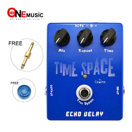 Effects Pedal Connector Canada - Wholesale Caline CP17 Time Space Echo Delay Digital Guitar effect Pedal 600ms Max True Bypass Free Drop shipping Free connector