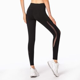 $enCountryForm.capitalKeyWord NZ - High Waist Sports pants Yoga leggings Fitness Bodybuilding Workout Mesh Cropped Leggings With Sided Pockets For Girls #803110