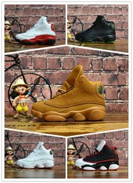 Basketball Sneakers For Cheap Australia - Big Kid discount 13 Grey Pink Black Kids Basketball Sports Shoes 13s Sneakers Cheap Kids Shoes fashion trainer for boys girls