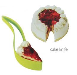 Bread Slicer Cutter NZ - Cake Server Cake Knife Pie Slicer Sheet Guide Cutter Server for Wedding Party Bread Slice Knife Kitchen Gadget SN2482