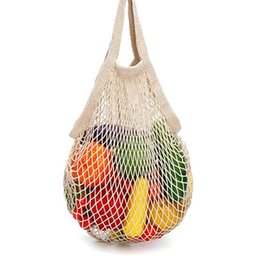 $enCountryForm.capitalKeyWord UK - Hot Sale Shopping Mesh Bag Women New Mesh Net Turtle String Shopping Bag Reusable Fruit Storage Handbag Totes Convenient Bag