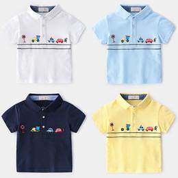 Boys Polo Tops Australia - 2019 Summer New Enfant Boys T-shirt Children Cotton embroidered cartoon car polo Shirt lapel Tops Kids Baby Short Sleeve T-Shirt 2-7y