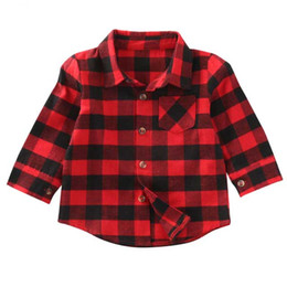 $enCountryForm.capitalKeyWord UK - New Style in Autumn Cute Baby Kids Boys Girls Long Sleeve Shirt Plaids Checks Tops Blouse Out Wear Jackets Clothes