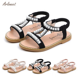 Toddler Moccasins Wholesale Australia - ARLONEET Soft Sole PU Baby girls Rhinestone Pearl Princess Shoes First Walkers Shoes summer First walker toddler moccasins