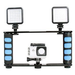 $enCountryForm.capitalKeyWord Australia - Dual Handle Grips Video Cage Stabilizer Holder for Smartphone Action Camera for most DSLR   ILDC cameras