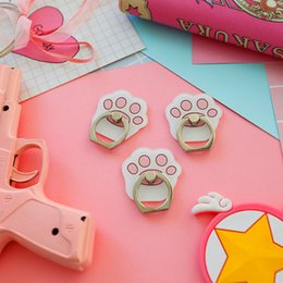 Cartoon Anime Sailor Moon Luna Cat Mobile Phone Holder Paste Flat Ring Lazy Bracket Couple Mobile Phone Ring Bracket Novelty & Special Use