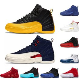 Toptan satış En Yeni Jumpman Erkekler 12s Basketbol Ayakkabı Sıcak Punch Sunrise Oyun Kraliyet 12 FIBA ​​UNC Space Jam Michael White Playoff Mavi CNY Sneakers Retro