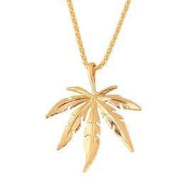 14k chain wholesale NZ - Vintage Leaf Designer Necklace Personality Women Mens Necklace Luxury Chain Hip Hop Necklaces Jewelry Gift Best Quality