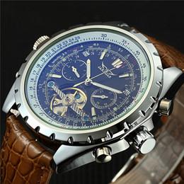 Men Watches Week Day Australia - Jaragar Men Mechanical Watch Luxury Automatic Tourbillon Watch Calendar Day Week Year Leather Relogio Masculino 2018 J190614