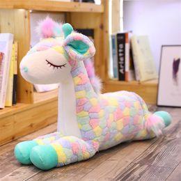 Cars stuff toy online shopping - Colour Sika Deer Dolls Lovely Giraffe Stuffed Animals Doll Pillow Car Decoration Cute Plush Toys Girl Gift Sell Well kk N1