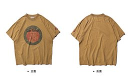 Cotton Print Material NZ - 2019 designer fashion T-shirt, brown antique short sleeve, round print, cotton material, free shipping, hot products