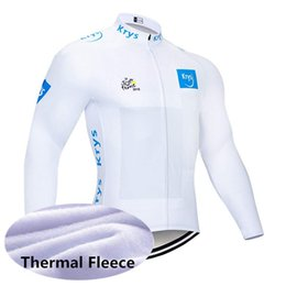Winter Cycling Yellow Australia - Leisure team TOUR DE FRANCE men winter Cycling Winter Breathable Thermal Fleece jersey Cold protection hight quality 61008