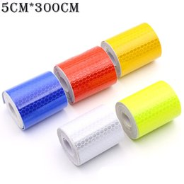 White sticker tape online shopping - CHIZIYO x300cm Red White Blue Yellow Reflective Strip Car Stickers Reflector Trucks Motorcycle Safety Warning Reflective Tape