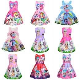4529eb22ce9 Baby Shark Dress Cartoon Doll Floral Printed Dresses Baby Shark Sleeveless  Princess Dresses Kids Doll Printed Princess Costume