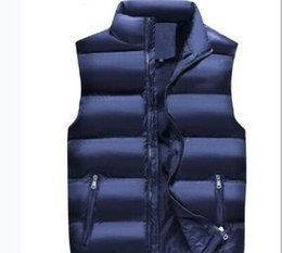 China 009 new cotton vest, men's autumn winter trend, leisure thickening and warm men's shawl coat.Warm and comfortable, multi-color can be chose cheap can goose suppliers